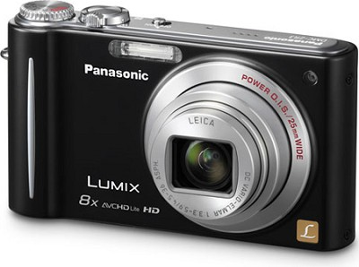 DMC-ZR3K LUMIX 14.1 MP Digital Camera with 10x Intelligent Zoom (Black)