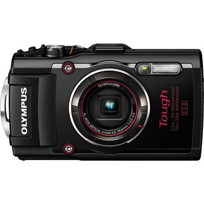 TG-4 16MP 1080p HD Waterproof Digital Camera with 3-Inch LCD Display - Black