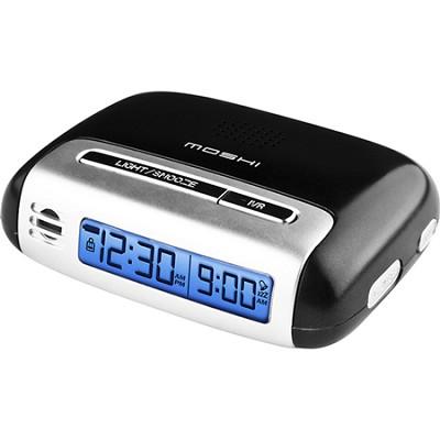 Speak n Set Touch Activated Travel Alarm Clock Black - **OPEN BOX**