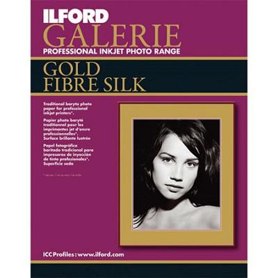 Galerie Gold Fibre Silk Inkjet 8.5 x 11 Photo Paper, 10 Sheets