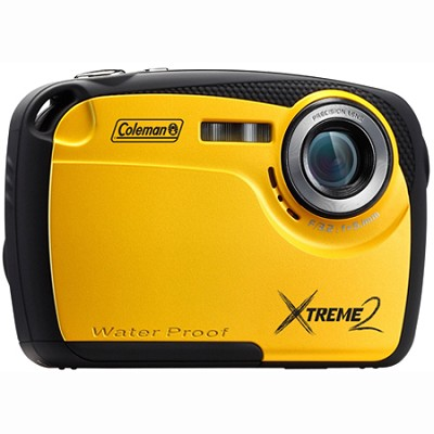 16MP Waterproof Digital Camera with 2.5` LCD Screen HD Video (Yellow) C12WP-Y