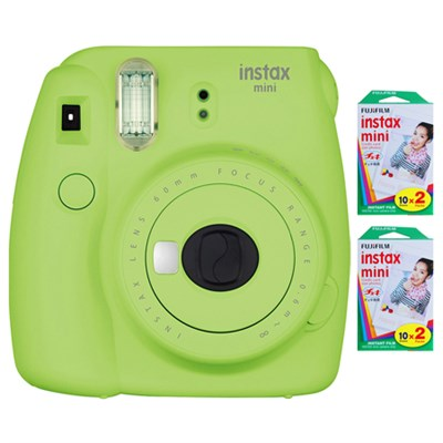 Instax Mini 9 Instant Camera - Lime Green w/ 40 Sheets Of Instant Film