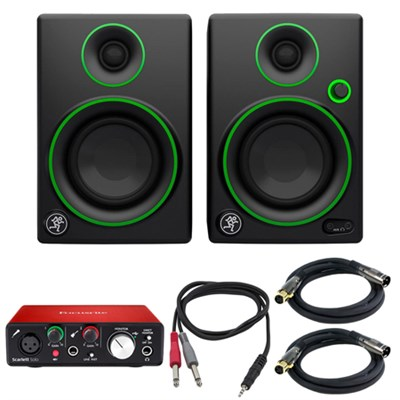 CR Series 3` Creative Reference Multimedia Monitor Pair w/Audio Interface Bundle
