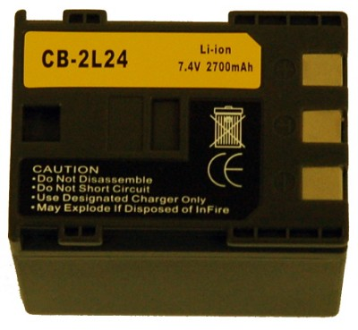 CB-2L24 2700MAH Battery for Select Canon Digital Camcorders (NB-2L24)