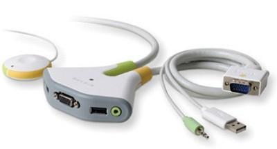 Flip 2-Port KVM Switch with Remote - USB - Audio