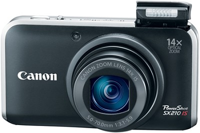 PowerShot SX210 IS 14MP 14x Zoom Digital Camera (Black)