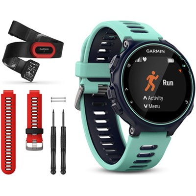 Forerunner 735XT GPS Running Watch Run-Bundle with Red Band - Midnight Blue