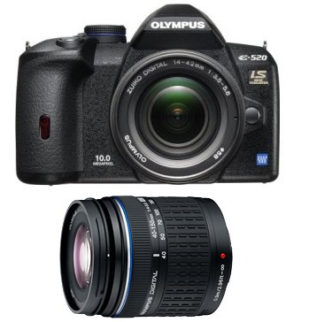 E-520 10.1MP Digital SLR w/ 14-42mm and 40-150mm Zuiko Digital Lens