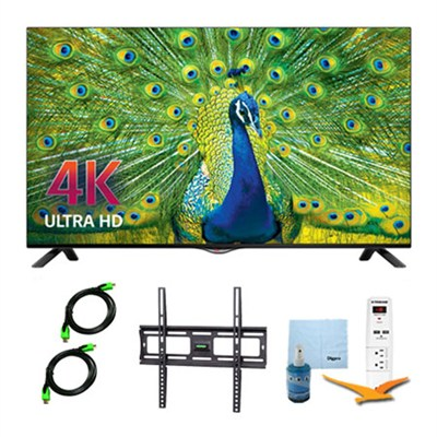 49UB8200 - 49-inch 4K Ultra HD Smart LED TV Plus Mount and Hook-Up Bundle
