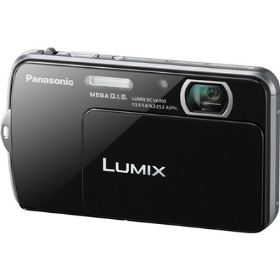 Lumix DMC-FP7 16MP Black Compact Digital Camera w/ 3.5` Touch Screen