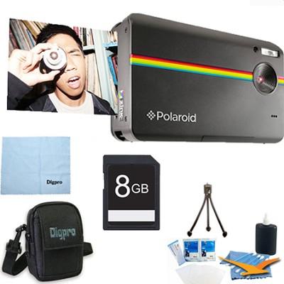 Z2300 10MP 2x3` Instant Digital Camera with ZINK Zero Ink (Black) 8GB Bundle