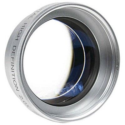 Professional 2X Telephoto Lens Converter for 58mm threading (Silver) - OPEN BOX