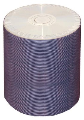 4.7GB, 8X-R, White Inkjet (Hub Printable) DVD - 100 Disc Tapewrap Spindle