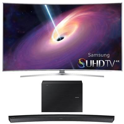 UN78JS9500 - 78-Inch Curved 4K 120hz SUHD 3D LED TV w/ HW-J6500 Soundbar Bundle