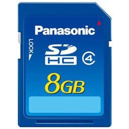 8GB SD Memory Card with SD Speed Class 4 Performance