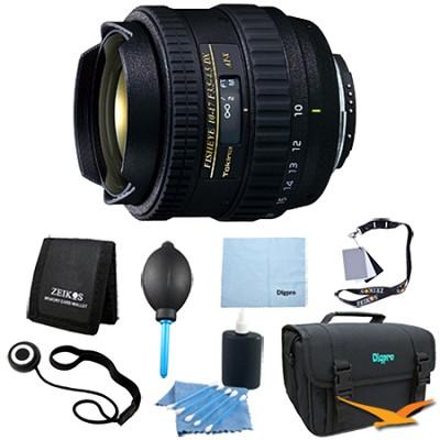 AT-X AF 10-17mm f3.5-4.5 DX Fisheye Lens for Nikon DSLRs - Lens Kit Bundle