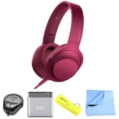 Premium Hi-Res On-Ear Stereo Headphone Pink - MDR100AAP/P w/ FiiO A1 Amp. Bundle