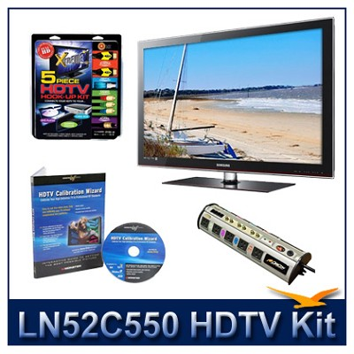 LN52C550 - 52` LCD HDTV + Hook-Up + Power Protection + Calibration DVD