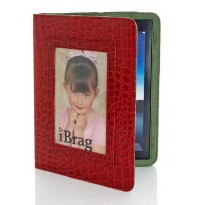 Wet Croco iBrag iPad Case (Red/Olive)