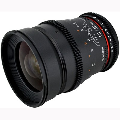 35mm T1.5 Aspherical  Wide Angle Cine Lens w/ De-clicked Aperture Sony (CV35-S)