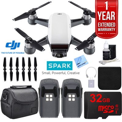 CP.PT.000731 SPARK Intelligent Quadcopter Drone Essentials Bundle (Alpine White)