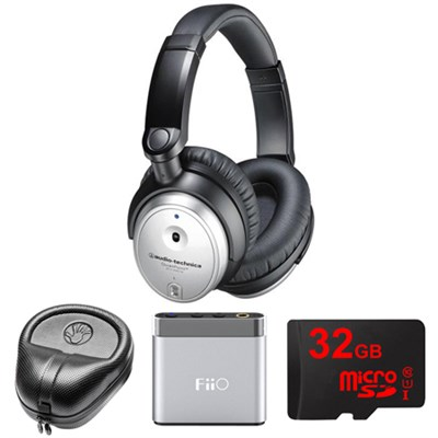 QuietPoint Active Noise-Cancelling Headphones w/ FiiO A1 Amp. Bundle