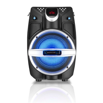 6.5` Powered Bluetooth PA System with Mic & LED Woofer - Beach Black