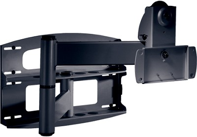 PLA-60 Articulating Swivel Wall Mount (Black) w/ screen adapter plate