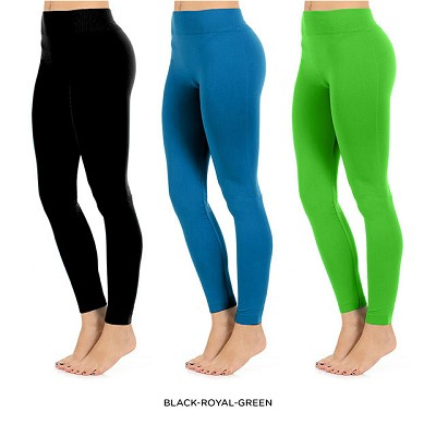Seamless Full Length Leggings (Lime Green)  One Size