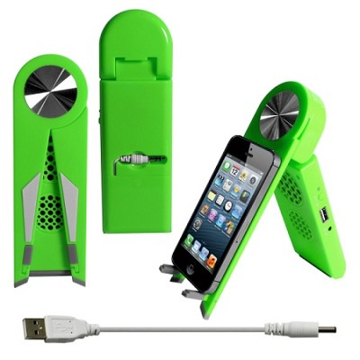 Stand Speaker for Tablets & Smartphones in Green