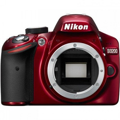 D3200 24.2MP 1080p DX-format Digital SLR Camera Body (Red) Factory Refurbished