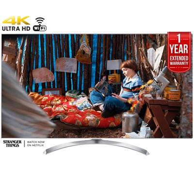 SUPER UHD 60` 4K HDR Smart LED TV (2017) + 1 Year Extended Warranty -Refurbished