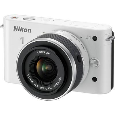 1 J1 SLR White Digital Camera w/ 10-30mm VR Lens
