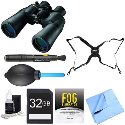 ACULON 10-22x50 Zoom Binoculars (A211) Adventure Bundle