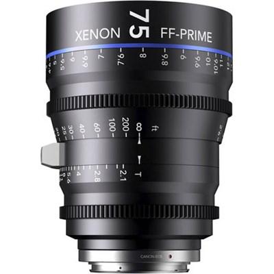 75MM Xenon Full Frame 4K Prime XN 2.1 / 75 Feet Lens for Canon EOS Mounts