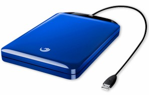 GoFlex 500 GB Ultra-Portable USB 2.0 External Hard Drive (Blue)