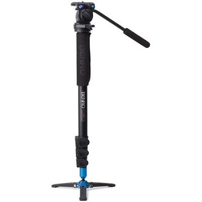 Video Monopod with Flip Lock Legs, S2 Head and 3 Leg Base (Black) - A38FBS2