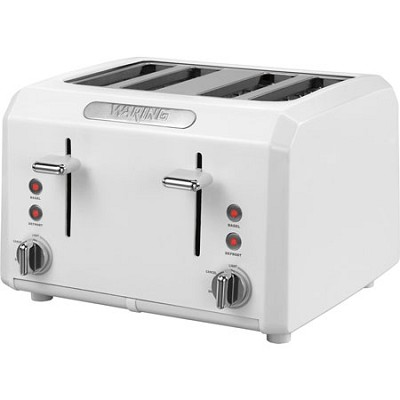 Cool Touch 4-Slice White Toaster
