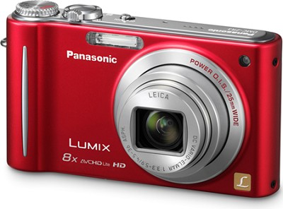 DMC-ZR3R LUMIX 14.1 MP Digital Camera with 10x Intelligent Zoom (Red) - OPEN BOX