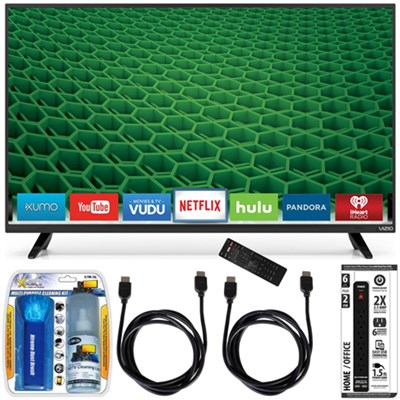 D48-D0 - D-Series 48-Inch Full-Array LED Smart TV Accessory Bundle
