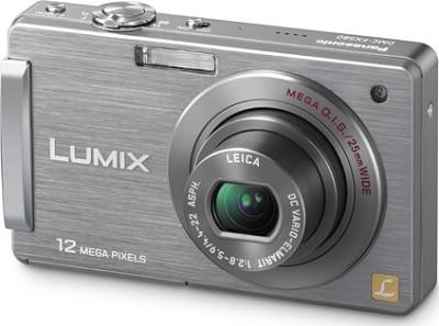 DMC-FX580S LUMIX 12.1 MP Compact Digital Camera w/3.0` Touch LCD (Silver) REFURB