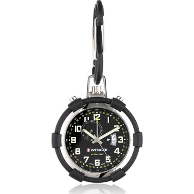 Men's Traveler Pocket Alarm Watch - Black Dial/Black Silicone Pouch