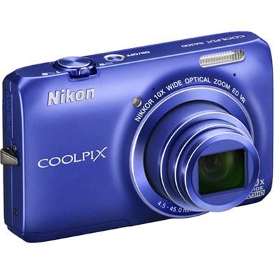 COOLPIX S6300 16MP 10x Opt Zoom 2.7 LCD Digital Camera (Blue) Refurbished