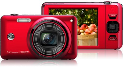 E1480W 14MP Power Series Digital Camera (Red)
