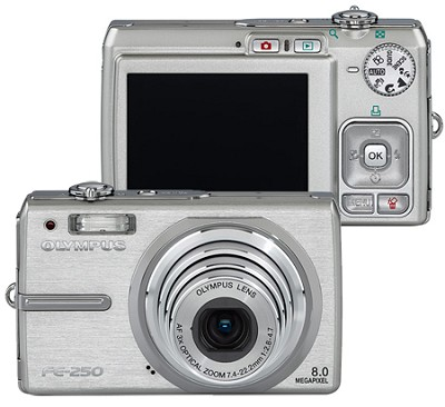 FE-250 (Silver) Digital Camera - OPEN BOX