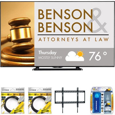 80` Class Full HD Commercial LED TV PN-LE801 with Wall Mount Bundle