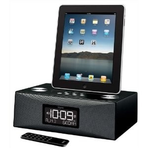 iD85 App-enhanced Dual Alarm Clock Radio for your iPad/iPhone/iPod with AM/FM