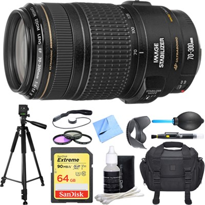 EF 70-300mm F/4-5.6 IS USM Lens Deluxe Accessory Bundle