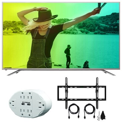 Aquos N7000 60` Class 4K Ultra WiFi Smart LED HDTV 60N7000U w/Mount Bundle