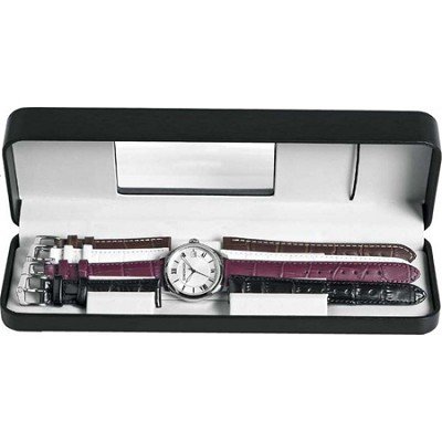 Ladies Terragraph Interchangeable Watch - Silver Dial/With Four Leather Straps